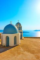 Surreal domes a Greek church