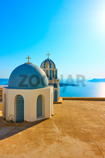 Surreal domes a Greek church