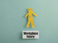 Workplace Injury worker concept