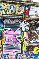 grafitti an gebäudewand