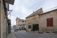 Street view in Ses Salines village Mallorca