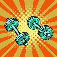dumbbell pop art
