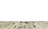 old painted washed oak wood table isolated on white background. wooden table.