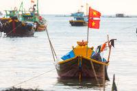 Traditional Fishing Vietnamese Boats