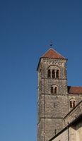 Tower of the callegiate church in the german city Quedlinburg