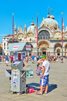 Photo service kiosk in The Saint Mark's square