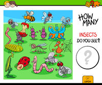counting insects and bugs educational game
