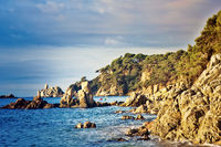 Mediterranean coast in bright colors of summer