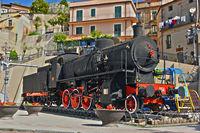Old steam locomotive in the village of Bova in the Province of Reggio Calabria