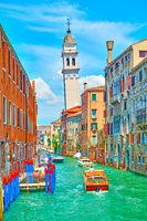 Rio de S. Lorenzo canal in Venice