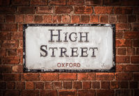 Oxford High Street Sign