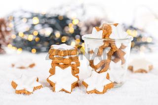 Weihnachten Plätzchen Weihnachtsplätzchen Gebäck Sterne Zimtsterne Winter