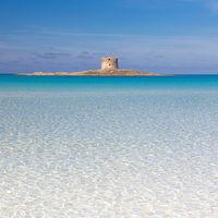 Pelosa beach, Sardinia, Italy.