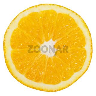 Orange Frucht geschnitten Hälfte Freisteller freigestellt isoliert