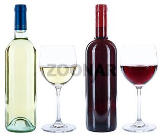 Wein Weinflaschen Weinglas Flaschen Glas Weine Rotwein Weißwein freigestellt Freisteller