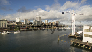 Bird's Eye View of the Thea Foss Waterway in Tacoma Washington