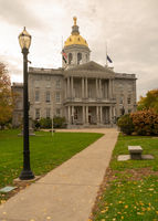 Fall Color Autumn Leaves Statehouse Grounds Concord New Hampshire