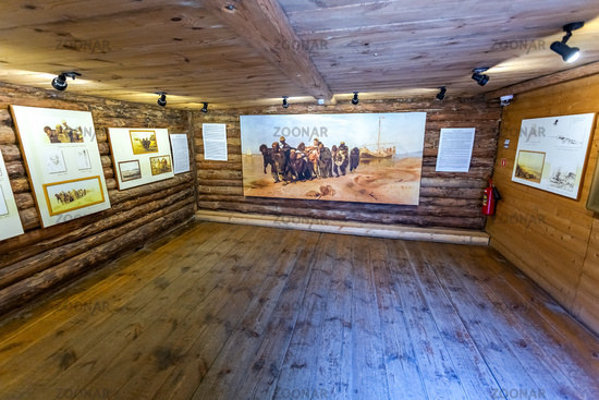 Art gallery of the famous painter Ilya Repin in house museum