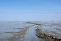 Priel im Wattenmeer Nationalpark,Nordsee,Deutschland
