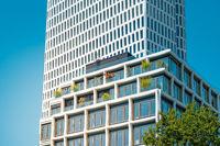 Modern real estate exterior / building facade at Kurfuerstendamm  in Berlin, Germany