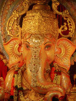Statue of Lord Ganesh worshipped in Maharasthra during Ganesh festival.
