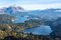 Gorgeous view from the top of Cerro Companario in Nahuel Huapi National Park, San Carlos de Bariloche (or simply, Bariloche), Rio Negro, located on the northern edge of Argentina's Patagonia region