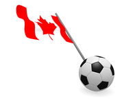 Soccer ball with the flag of Canada