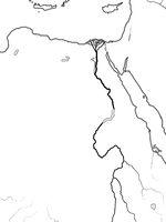 World Map of EGYPT, NUBIA, LIBYA: Ancient Egypt, Libya, Nubia, Nile River & Delta. Geographic chart.