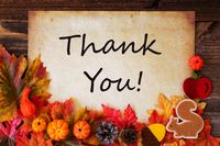 Old Paper With Thank You, Colorful Autumn Decoration