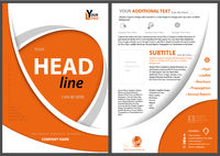 Modern Flyer Concept with Orange Curved Shapes