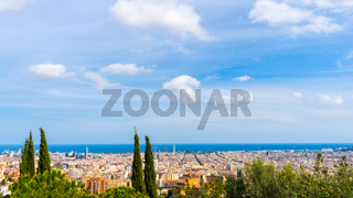 View over the city of Barcelona