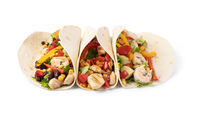 burrito with vegetables and tortilla,