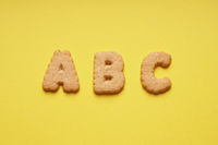 ABC cookie or biscuit letters