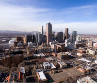 Late Afternoon Light Hits the Buildings of Downtown Denver Colorado