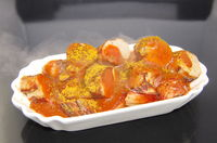 Portion Currywurst