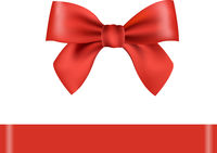 Red Bow Isolated