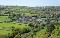 Aerial view of Taddiport near Torrington in Devon