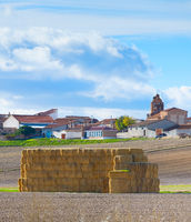 Landscape village Spain haystack rural