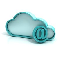 Cloud mail 3D computer icon
