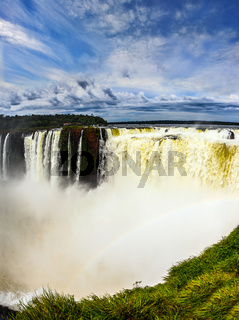 The waterfal on the Parana River
