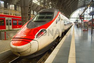Fast speed train Frankfurt Germany
