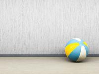 single beach ball on the floor