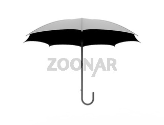 3d rendering of an umbrella isolated in white studio background