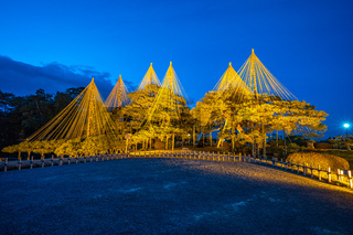 Light up in Kenrokuen Garden in Kanazawa, Japan