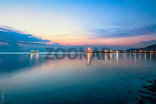 Sky twilight at Nathon Pier in Ko Samui