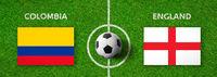 Football match Colombia vs. England