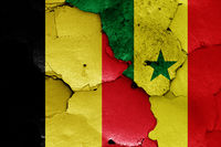 flags of Belgium and Senegal
