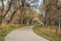 bike trail in late fall scenery