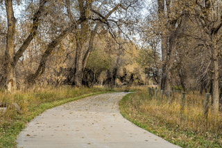 bike trail in late fall scenery