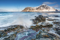 Lofoten Flakstad im Winter